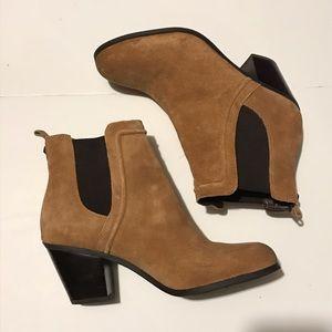 Sam Edelman Suede Tan Cognac Ankle Boots size 7.5