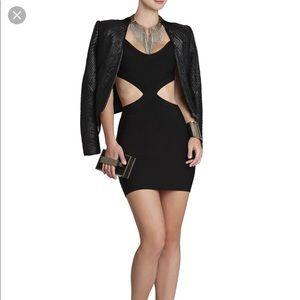 BCBGMAXAZRIA Elia Black Bandage Dress