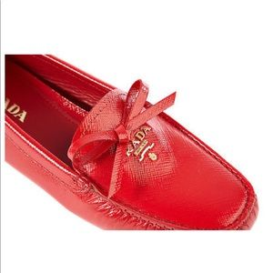 🔥🔥Authentic Prada red moccasins BRAND NEW🔥🔥🔥