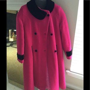 Vintage black & pink coat
