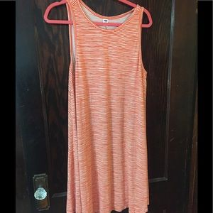 OLD NAVY ORANGE STRIPED TANK DRESS