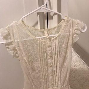 Gorgeous frenchi cream dress, fully lined