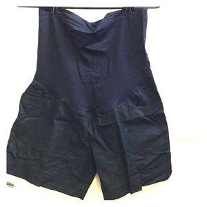 Maternity denim trouser shorts