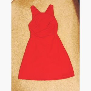 Zara Red Backless Skater Dress