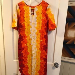 Vintage Mod Hippy Boho Hawaiian Dress