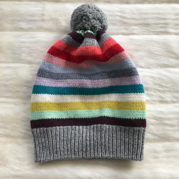 GAP Other - GapKids Gap Striped Pom Pom Winter Hat Beanie bdbdd4f5033