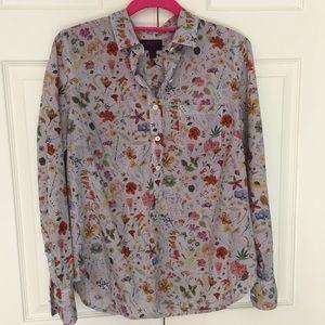 J. Crew LIBERTY arts fabrics Floral Popover Shirt