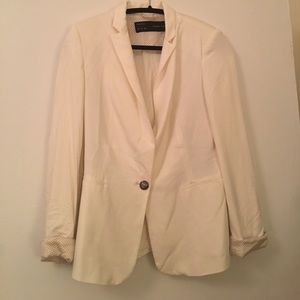 White man tailored suit jacket