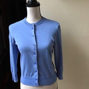 J. CREW Blue Jackie Cardigan Sweater