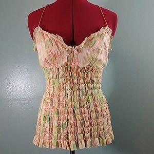 ▼$51 Elie Tahari Silk Camisole top blouse floral