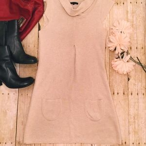 ANTHROPOLOGIE SHAE TAN SWEATER DRESS WITH POCKETS