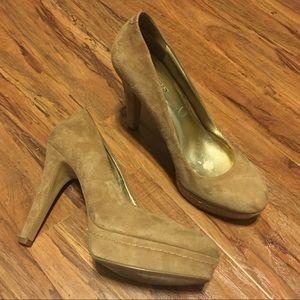 Nine West suede platform heels