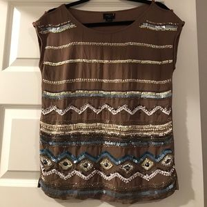 Beaded top from Anthropologie!
