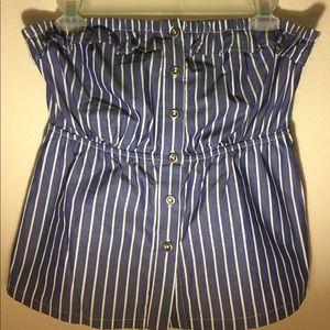 Anthropologie Odille brand strapless blouse