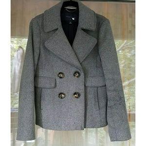 Banana Republic Gray Wool Pea Coat