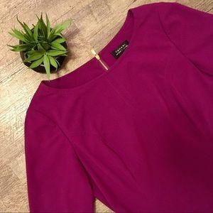 Tahari Arthur S. Levine Purple/Maroon Midi Dress