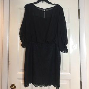 Black Sheer top dress