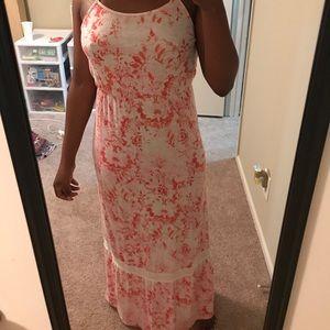 Splash Paint Floral Maxi Dress
