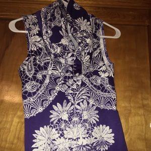 Purple Cowell neck tank top