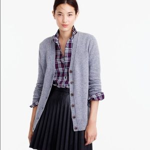 Jcrew Classic V-neck cardigan in Donegal wool