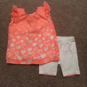 Other - Neon orange 2pc Outfit Set