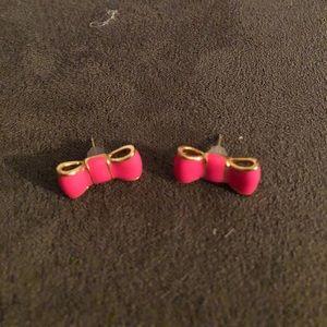 Kate spade pink bow earrings.