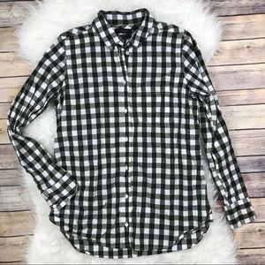 J. Crew Boy Shirt in Oversized Gingham