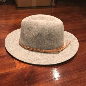 Wool & leather fedora