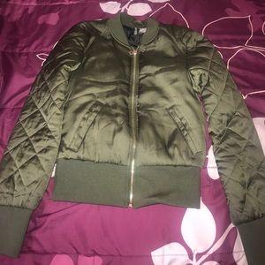 Olive Green H&M Bomber Jacket