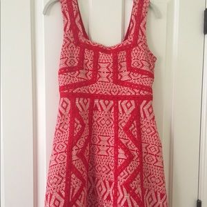 Anthropologie Red & White Structured Dress!!!!