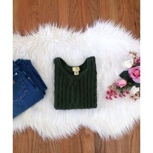 🍂 Vintage 90's Forest Green Sweater Crop Tank 🍁