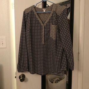 Merona long sleeve women's blouse