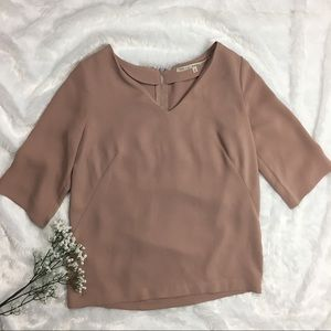 Rachel Roy Blouse Size XS Pink Shirt Top
