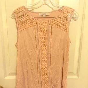 Loft rose pink shirt