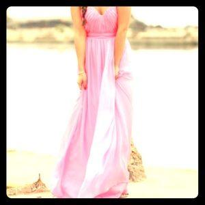 ABS by Allan Schwartz bubblegum pink dress