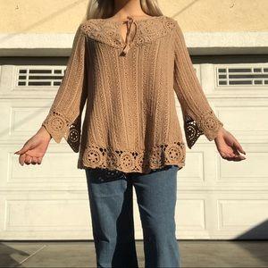 Crotchet hippie sweater