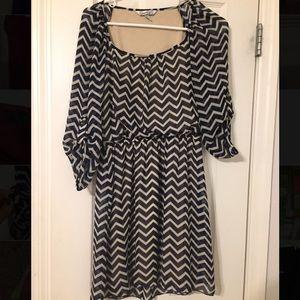 Chevron chiffon dress