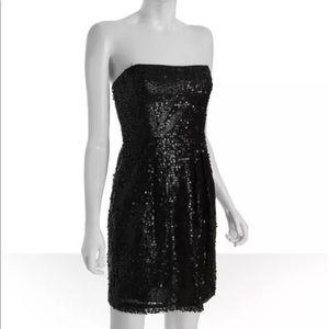 """BCBG """"Carole"""" black sequin party dress 2p xxs"""