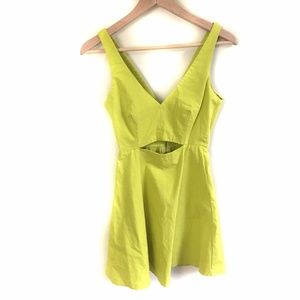 Zara Trafaluc Dress XS Cutout Neon Green Size XS