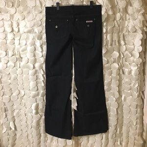 Hudson Super Dark Wash Wide Leg Jeans.