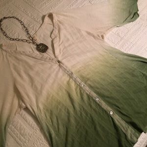 Tiny by Anthropologie sage green ombré top