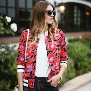 454073ae8143c Who What Wear Jackets   Coats - 🎉HP🎉Blogger Fav Plus Size Floral Varsity