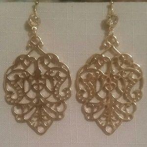 Filigree & Crystal Earrings