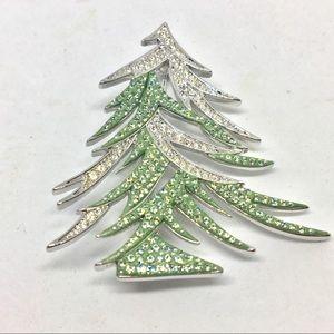 Swarovski Crystal 2009 Holiday Tree Brooch