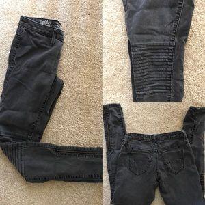 MOSSIMO Mid-Rise Black Denim Legging Jeans Small