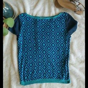 NEW! LOFT Geometric-print Sweater