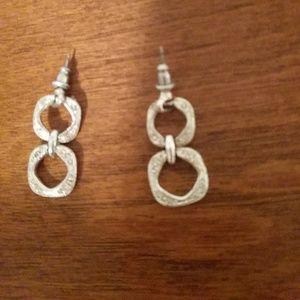 Adorable silver drop earrings