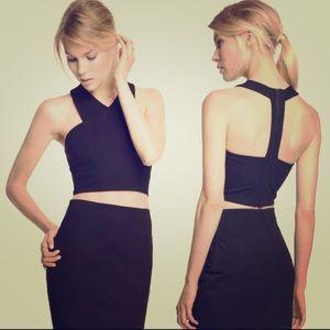 🆕 Listing 🎉Express criss-cross back-zip crop top