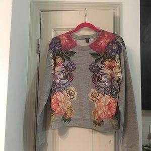 J.Crew Floral Sweatshirt NWOT