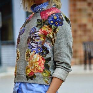 J.Crew Dutch Floral Sweatshirt NWOT